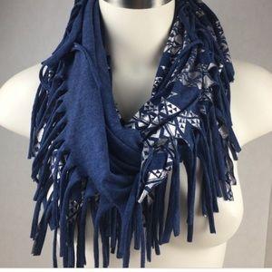 Justice navy/silver aztec scarf